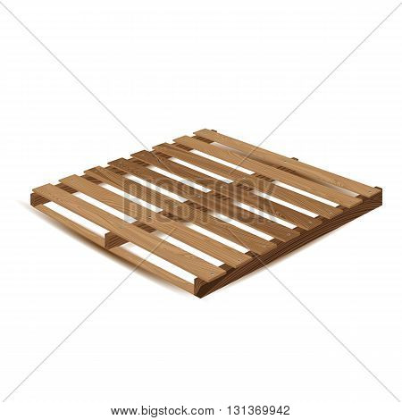 Wooden pallet. Wooden pallets to transport and freight transport isolated on white background.