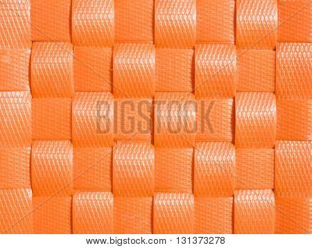 Weave plastic wicker pattern for texture and background.