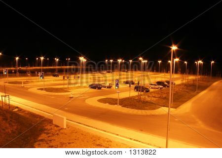 Parking Lot At Night