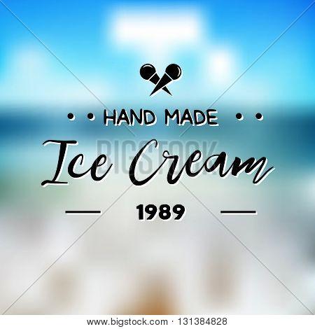 Ice Cream Design Badges And Labels. Vector Illustration. Ice Cream Logo Design Element. Retro Label