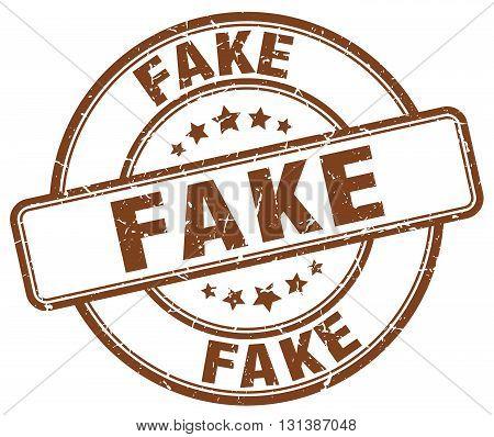 fake brown grunge round vintage rubber stamp.fake stamp.fake round stamp.fake grunge stamp.fake.fake vintage stamp.