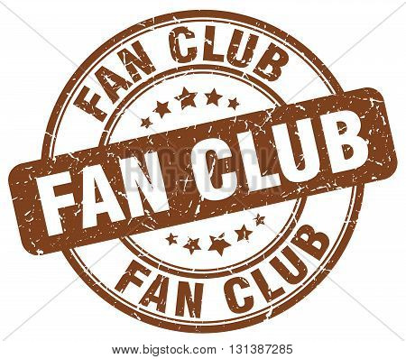 fan club brown grunge round vintage rubber stamp.fan club stamp.fan club round stamp.fan club grunge stamp.fan club.fan club vintage stamp.