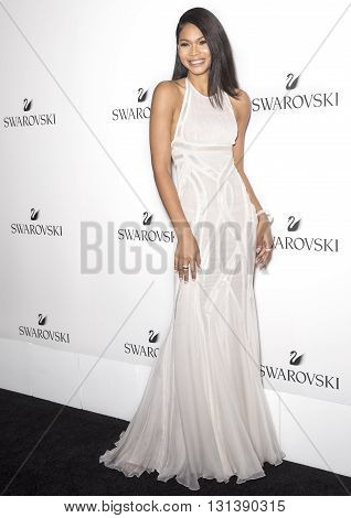 New York City USA - May 24 2016: Model Chanel Iman attends Swarovski #bebrilliant event at The Weather Room - Rockefeller Center
