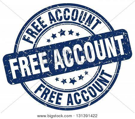 free account blue grunge round vintage rubber stamp.free account stamp.free account round stamp.free account grunge stamp.free account.free account vintage stamp.