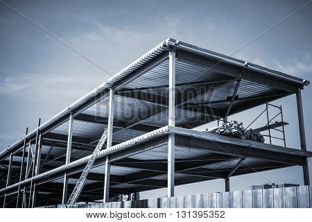 Modern Industrial Building Is Under Construction