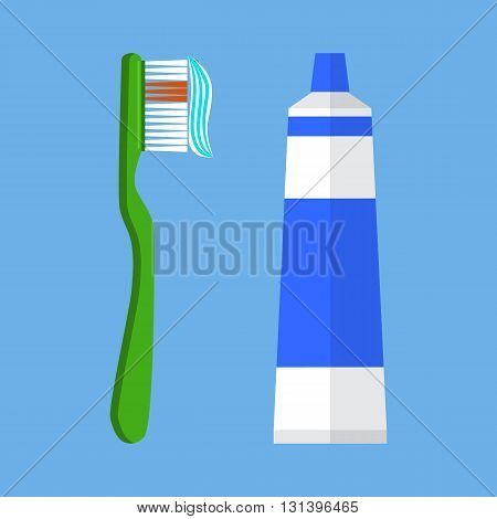 Tooth brush vector illustration. Tooth brush isolated on blue background. Tooth brush vector icon illustration. Tooth brush isolated vector. Tooth brush silhouette