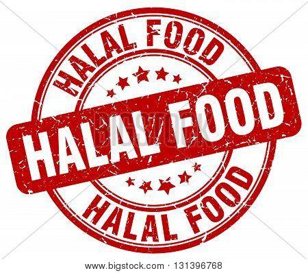 halal food red grunge round vintage rubber stamp.halal food stamp.halal food round stamp.halal food grunge stamp.halal food.halal food vintage stamp.
