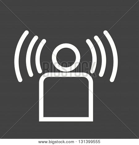 Signal, user, connection icon vector image.Can also be used for networking. Suitable for mobile apps, web apps and print media.