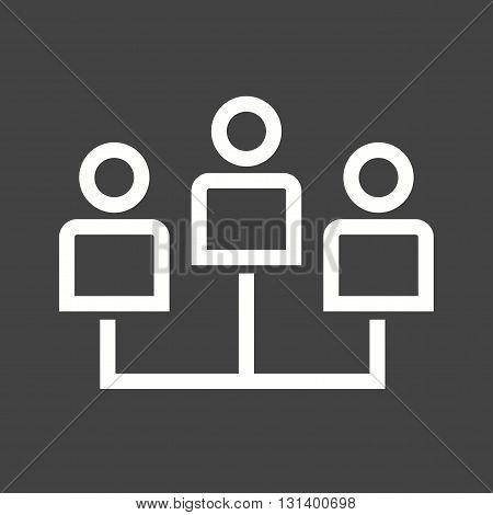People, network, social icon vector image. Can also be used for networking. Suitable for use on web apps, mobile apps and print media.