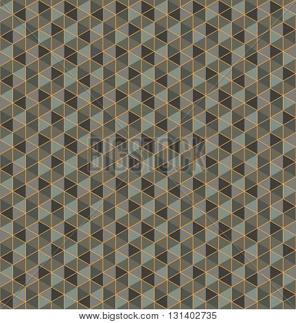 Modern stylish decorative technological texture with structure of repeating colorful hexagons - vector seamless pattern