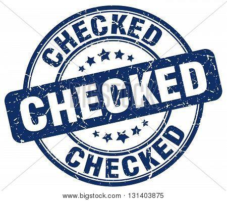 checked blue grunge round vintage rubber stamp.checked stamp.checked round stamp.checked grunge stamp.checked.checked vintage stamp.