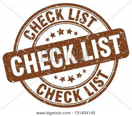 check list brown grunge round vintage rubber stamp.check list stamp.check list round stamp.check list grunge stamp.check list.check list vintage stamp.