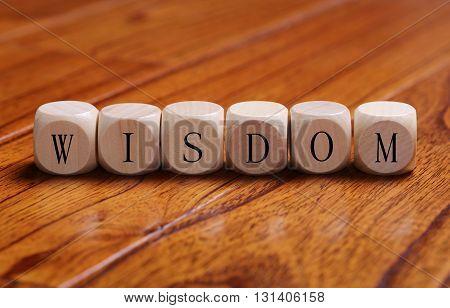 Wisdom Word Concept