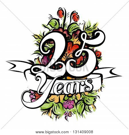 25 Years Greeting Card Design
