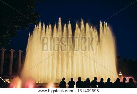 Magic Fountain of Montjuic in Barcelona Spain