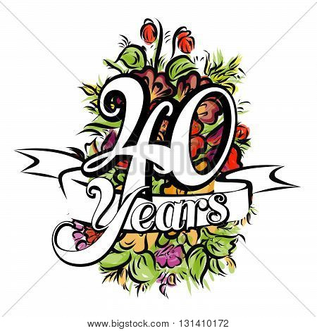 40 Years Greeting Card Design