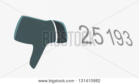 Dislike Thumb Down Counter Online Popularity Concept Illustration