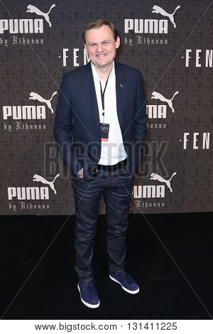 NEW YORK-FEB 12: CEO of Puma Bjorn Gulden attends the FENTY PUMA by Rihanna AW16 Collection during Fall 2016 New York Fashion Week at 23 Wall Street on February 12, 2016 in New York City.