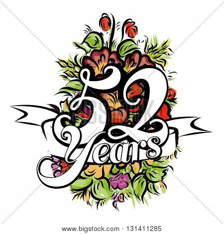 52 Years Greeting Card Design