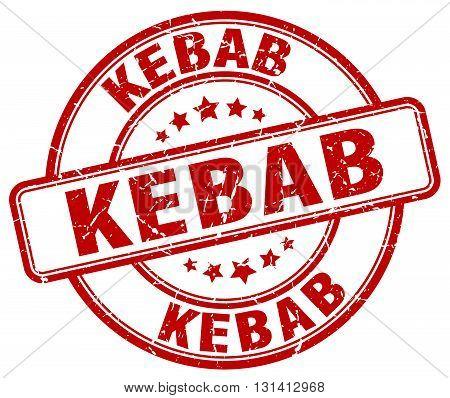 kebab red grunge round vintage rubber stamp.kebab stamp.kebab round stamp.kebab grunge stamp.kebab.kebab vintage stamp.