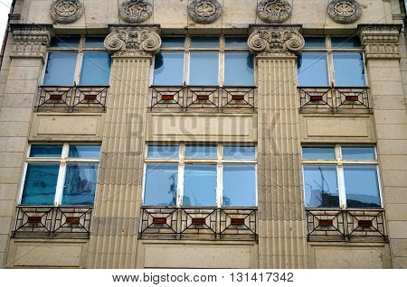 neoclassicism with windows facade in central berlin