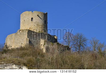 La Roche Guyon France - february 29 2016 : the picturesque castle