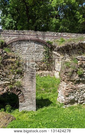 Remains of the homes in the ancient Roman city of Diokletianopolis, town of Hisarya, Plovdiv Region, Bulgaria