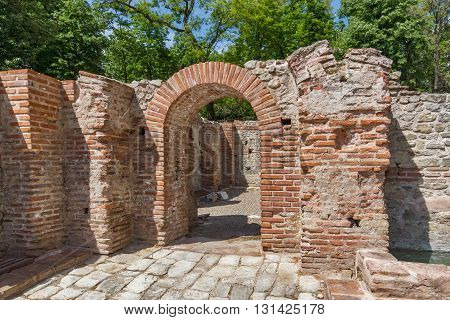 Panoramic view of The ancient Thermal Baths of Diocletianopolis, town of Hisarya, Plovdiv Region, Bulgaria