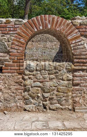 Window in The ancient Thermal Baths of Diocletianopolis, town of Hisarya, Plovdiv Region, Bulgaria