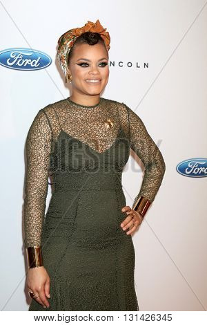 LOS ANGELES - MAY 24:  Andra Day at the 41st Annual Gracie Awards Gala at Beverly Wilshire Hotel on May 24, 2016 in Beverly Hills, CA