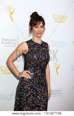 LOS ANGELES - MAY 25:  Maggie Siff at the 37th College Television Awards at Skirball Cultural Center on May 25, 2016 in Los Angeles, CA