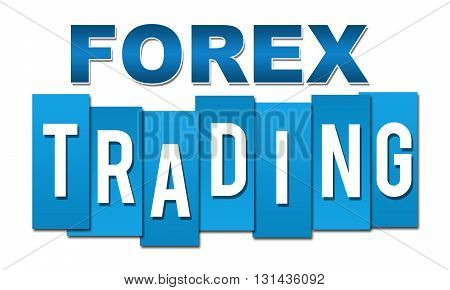 Forex trading text alphabets written over blue background.