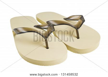 A pair of flip-flops isolated on a white background poster