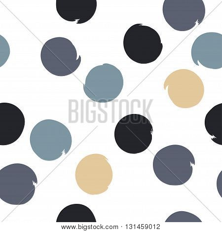 Seamless Universal Pattern. Polka Dots, Circles, Strips