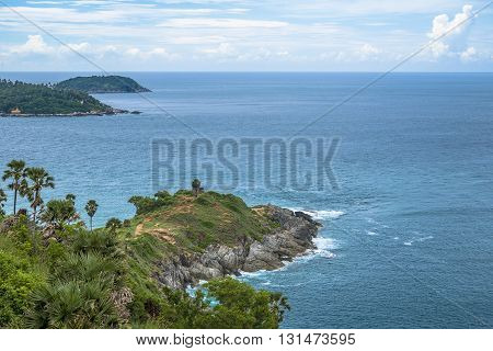 Phromthep Cape. The Attractive Landmark of Phuket Southern Province of Thailand.