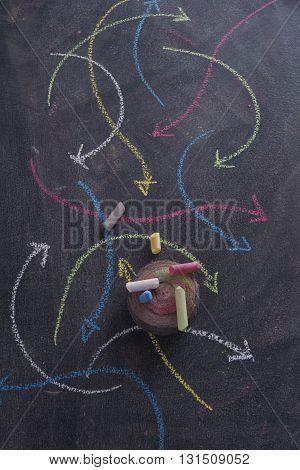 Colored Arrows Curvilinear