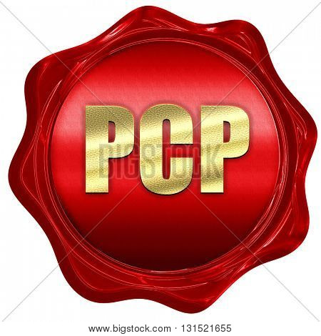 pcp, 3D rendering, a red wax seal poster