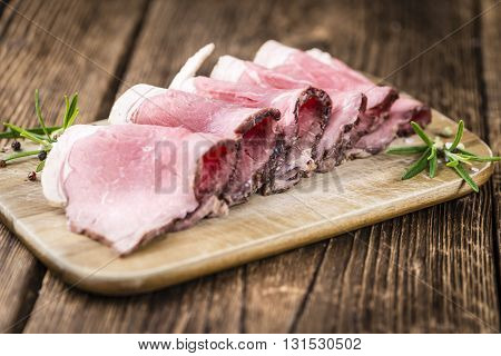 Roastbeef On A Wooden Table