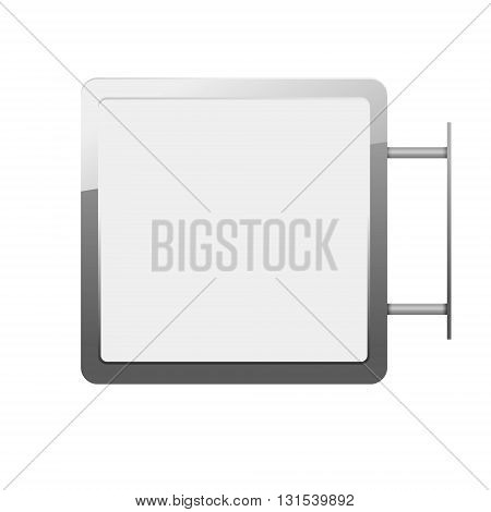 Blank billboards and outdoor advertisement templates isolated. Lightbox mockup in vector.