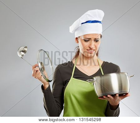 Upset Woman Cook