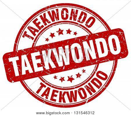 Taekwondo Red Grunge Round Vintage Rubber Stamp.taekwondo Stamp.taekwondo Round Stamp.taekwondo Grun