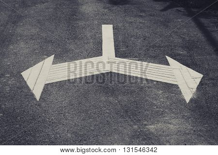 Arrow Sign direction on road Left and Right Traffic Signage outdoor