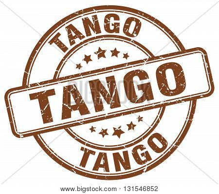 Tango Brown Grunge Round Vintage Rubber Stamp.tango Stamp.tango Round Stamp.tango Grunge Stamp.tango
