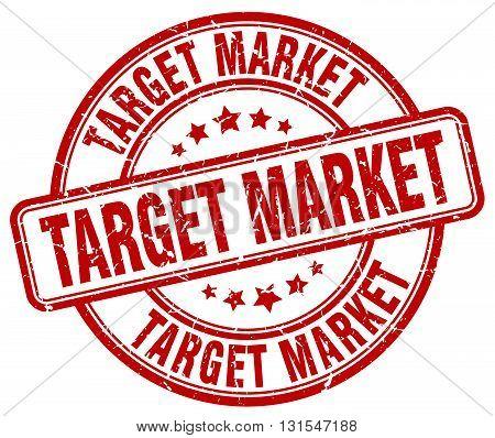 Target Market Red Grunge Round Vintage Rubber Stamp.target Market Stamp.target Market Round Stamp.ta