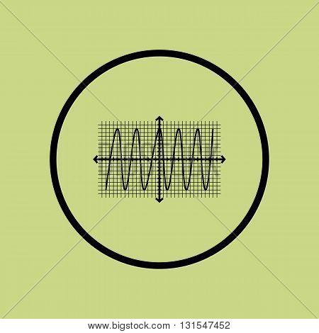 Cosine Icon In Vector Format. Premium Quality Cosine Symbol. Web Graphic Cosine Sign On Green Circle