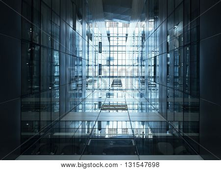 Architecture detail Modern Glass Steel facade Building Perspective