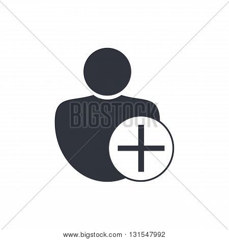 User Add Icon In Vector Format. Premium Quality User Add Symbol. Web Graphic User Add Sign On White