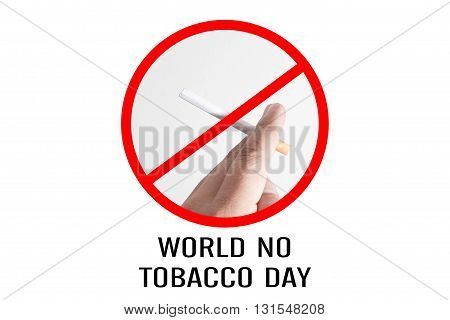 Signs Of No Smoking Design For World No Tobacco Day.