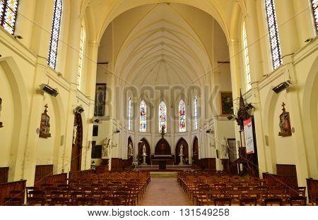 Fleury sur Andelle France - march 15 2016 : the Notre Dame de la Vallee church