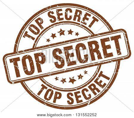 Top Secret Brown Grunge Round Vintage Rubber Stamp.top Secret Stamp.top Secret Round Stamp.top Secre
